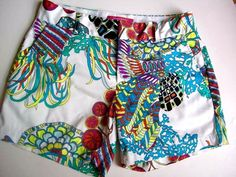 Trina Turk Banana Republic Shorts Size OOP Floral Colorful  Collection Stretch  #TrinaTurk #CasualShorts