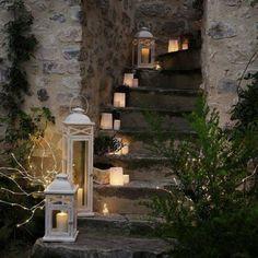 Light up a Staircase! #Candles #Inspiration #HomeDecor #OIADesign