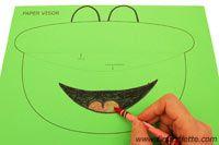 Step 2c Paper visor craft