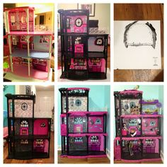 Reinvent Barbie House Into Monster High Doll House