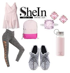 """""""PRETTY SHEIN For Working Out or Hanging Out"""" by michelle858 ❤ liked on Polyvore featuring Danskin, Kenneth Jay Lane, CB Station, Kate Spade and grayleggings"""