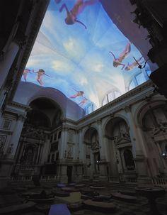 Pipilotti Rist,   Homo sapiens sapiens, 2005 Audio-video installation Installation view, San Stae Church