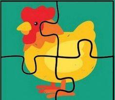 dört parça hayvanlar puzzle (2)