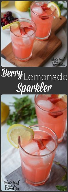 Berry Lemonade Cooler is the perfect recipe to cool off this summer! @wholefoodrealfa