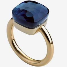 45€ Sapphire ring. Sterling silver 18k plated ring