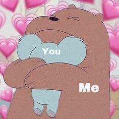 Cute Panda Wallpaper, Bear Wallpaper, Cute Disney Wallpaper, Cute Cartoon Wallpapers, Pink Wallpaper, Cute Cat Memes, Cute Love Memes, Cute Quotes For Your Crush, We Bare Bears Wallpapers