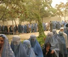 Defying Taliban threat, Afghan women participated in large numbers in presidential election.