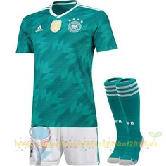 Nueva Replicas Segunda Camiseta Alemania 2018 Verde(Pantalones+Calcetines) c5d29fad38e