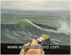 Free Oil Painting Lesson on How to Paint Waves - Follow this YouTube video, by artist Wilson Bickford, to learn how to paint realistic ocean waves.