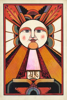David Palladini, The Sun, Tarot card, 1970. Via davidpalladini.com