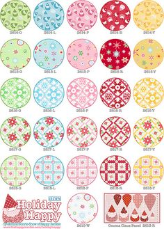 Holiday Happy Swatchamacallit | Fabric info: thehappyzombie.… | Flickr