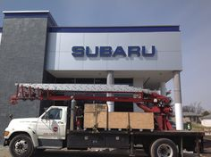 Neil Huffman Subaru located in Louisville, Ky Signs Backlit Signage, Channel Letter Signs, Commercial Signs, Sign Company, Business Signs, Commonwealth, Subaru, Lettering, Projects