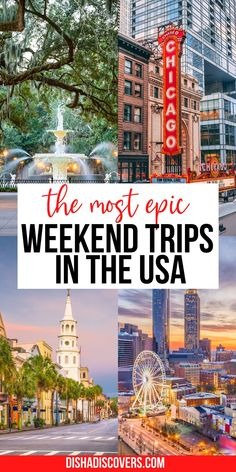 Weekend Getaways For Couples, Best Weekend Getaways, Couples Vacation, Usa Travel Guide, Travel Usa, Travel Tips, Travel Guides, Amazing Destinations, Vacation Destinations