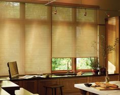 Designer Roller Shades can go from contemporary to modern to traditional so vintage. We are happy to help you choose the best fabric selections for your home or office. @Arjays Window Fashions 805.642.2300