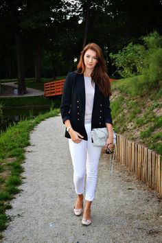 natalie's style: White pants