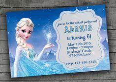 Frozen Party Invitation Elsa Birthday by PartyPrintableInvite Elsa Birthday Invitations, Frozen Party Invitations, Butterfly Birthday, Evie, Party Printables, Birthday Parties, Party Ideas, Creative, Handmade