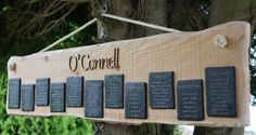 Rustic Wedding Seating Plan by YBCMDesigns on Etsy, £55.00