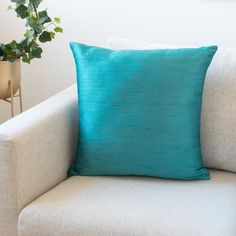 Teal Accent Pillow Covers, inch, Faux Silk wth Slub Texture, Throw Pillows for Sofa, Co… – yellow accent pillow