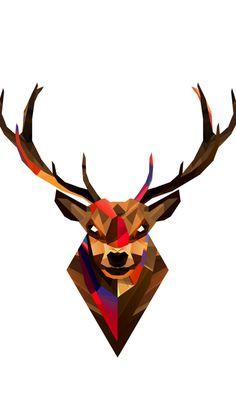 Geometric Tibetan Antelope #iPhone #5s #Wallpaper