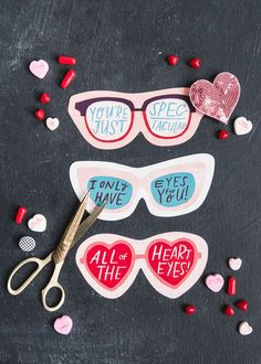 Valentine Sunglasses - The House That Lars Built - Printable Valentine Sunglasses -Printable Valentine Sunglasses - The House That Lars Built - Printable Valentine Sunglasses -. Valentines Day History, Valentines Day Party, Valentine Day Crafts, Valentine Theme, Valentinstag Party, Easy Diy Gifts, Creative Gifts, Handmade Gifts, Cheap Gifts