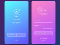 Finder App by Vladimir Gruev #Design Popular #Dribbble #shots