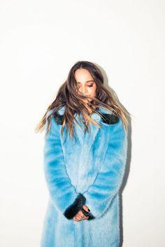 Inside Fashion Stylist Sophie Lopez's Closet: Blue Fur Coat by Shrimps | coveteur.com