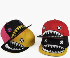 KPOP Baseball Cap Shark Mark Funny Hat K Pop Idol Style Fashion Snapback Unisex | eBay