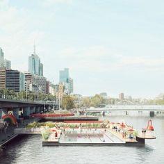 Studio Octopi designs floating swimming pool for Melbourne's Yarra River