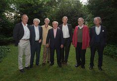 Michael Krüger, Alfred Kolleritsch, Franz Mon, Hubert Burda, Peter Hamm, Tomas Venclova Peter Handke v.l.