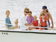 8-Year-Old Prince Harry on Vacation with Mom Princess Diana in the Caribbean