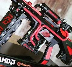 AMD http://amzn.to/2pfClkD Pc Gaming Setup, Pc Setup, Gaming Computer, Pc Gamer, Gamer Room, Computer Build, Computer Case, Design Tech, Smartphone