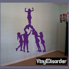Cheer rooms on pinterest cheerleading cheers vinyl for Cheerleader wall mural