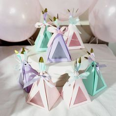 Teepee Party Favor Boxes with Feathers for Boho Birthday Party and Baby Shower, Tribal Boho Chic Gift Tent Box - First Birthday Girl Pocahontas Birthday Party, Wild One Birthday Party, Birthday Favors, First Birthday Parties, Girl Birthday, First Birthdays, Birthday Gifts, Frozen Birthday, Birthday Decorations