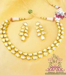 Paisley Kundan Meenakari Necklace Set shop online
