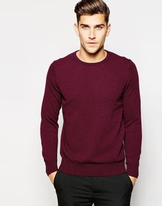 Image 1 of United Colors of Benetton 100 Merino Wool Crew Neck Jumper