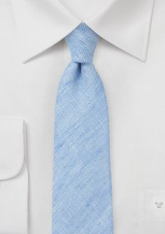 Blue Linen Skinny Tie - Indulge in the astounding simplicity of this enchanting Blue Linen Skinny Tie from the coveted Blackbird Heritage Collection. The soothing shade of soft blue and the understate Pastel Blue Wedding, Rose Quartz Serenity, Himmelblau, Wedding Ties, Skinny Ties, Herringbone Pattern, Color Inspiration, Mens Fashion, Binder