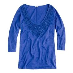 Lace necklace tee-Jcrew $45 / via http://www.jcrew.com/womens_feature/NewArrivals/teesandknits/PRDOVR~67637/67637.jsp