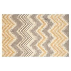 Check out this item at One Kings Lane! Mere Rug, Gray/Gold