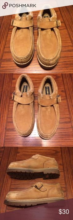 Men's Tan Brown Lugz Size 12 These are pre-owned men's shoes. The Lugz have been worn a few times and show signs of wear. These are a size 12. Lugz Shoes