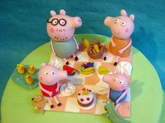 peppa pig #cake #topper set