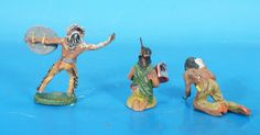 ELASTOLIN 3 Indianer um 1930 Masse 2840   eBay