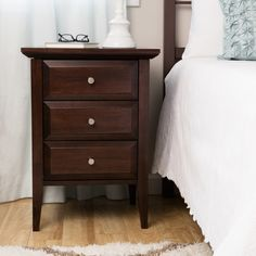 sidney side table with charging station metal drawers bedrooms