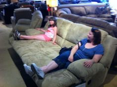 SEE IT, SNAP IT, POST IT Facebook contest entry: Reclining Sofa -- ahhh...