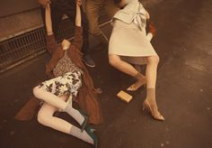 Ordinary Accidents  Models: Hannah Noble, Anna Millonig and Agne Petkute  Photography by Alessio Bolzoni  Styling by Moreno Galata  Hair by Valentino  Makeup by Thais Bretas  for Grey Magazine