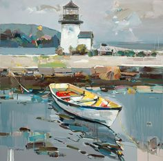 """Mystic Seaport Lighthouse"" by Josef Kote"