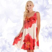 Coral flower dress on Zulily