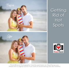 Learn how to edit unwanted hot spots in your images. via @I Heart Faces | Photography