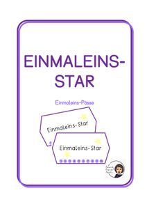 Einmaleins-Star – Unterrichtsmaterial in den Fächern Fachübergreifendes & Mathematik Star, Philosophy, Physical Science, Psychology, Agriculture Farming, School Social Work, Home Economics, Multiplication Tables