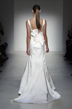 Wedding Dresses: A Beautiful Bow Wedding Back From the 2013 Wedding Runway- @Amsale Bridal Bridal