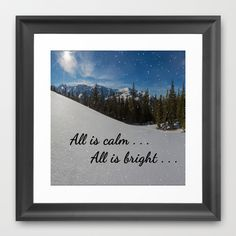 First Christmas - All is calm . . .  All is bright . . .   Framed Art Print by Pat71896 -